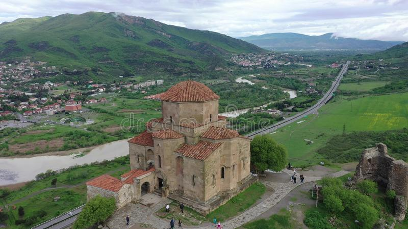 Jvari -格鲁吉亚修道院和寺庙 免版税库存照片