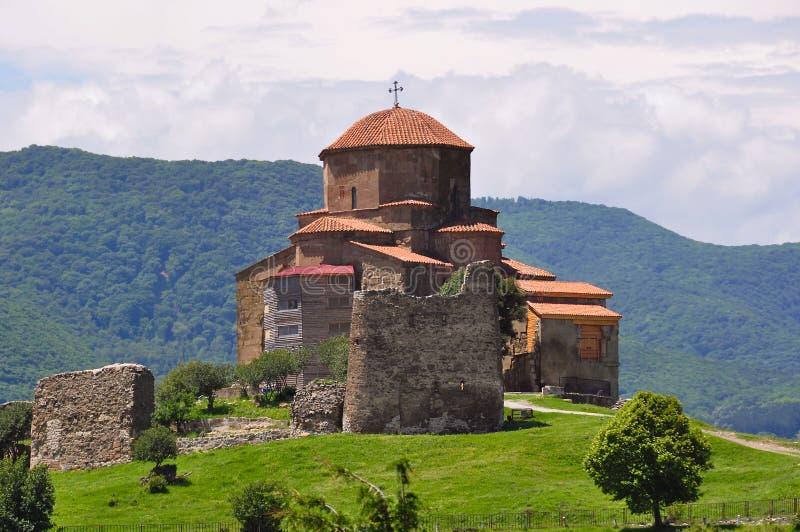 Jvari-Kloster6. jahrhundert nahe Tiflis, Mtskheta, Georgia lizenzfreie stockbilder