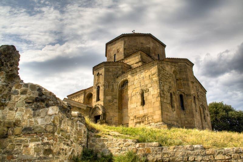 Jvari monaster blisko Mtskheta obraz royalty free