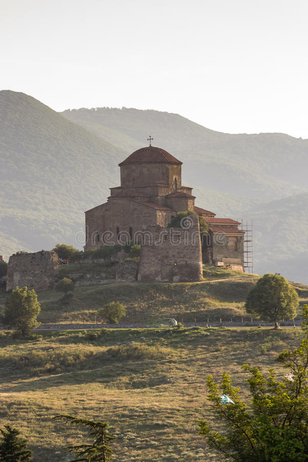 Jvari monastery , one of the oldest in Georgia stock images