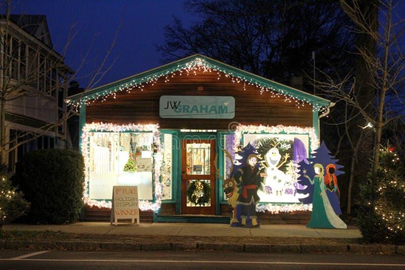 JW Graham Store in Kerstmistijd royalty-vrije stock afbeeldingen