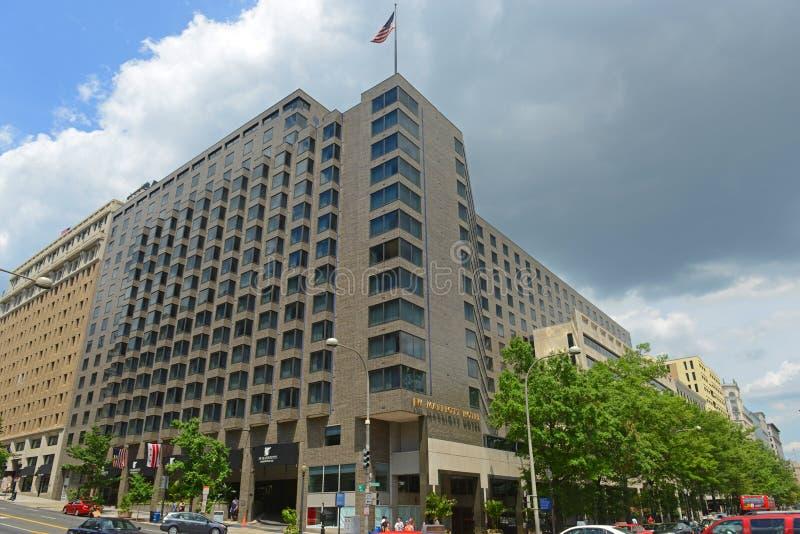 JW Marriott Hotel w centrum Waszyngtonu, USA obrazy stock