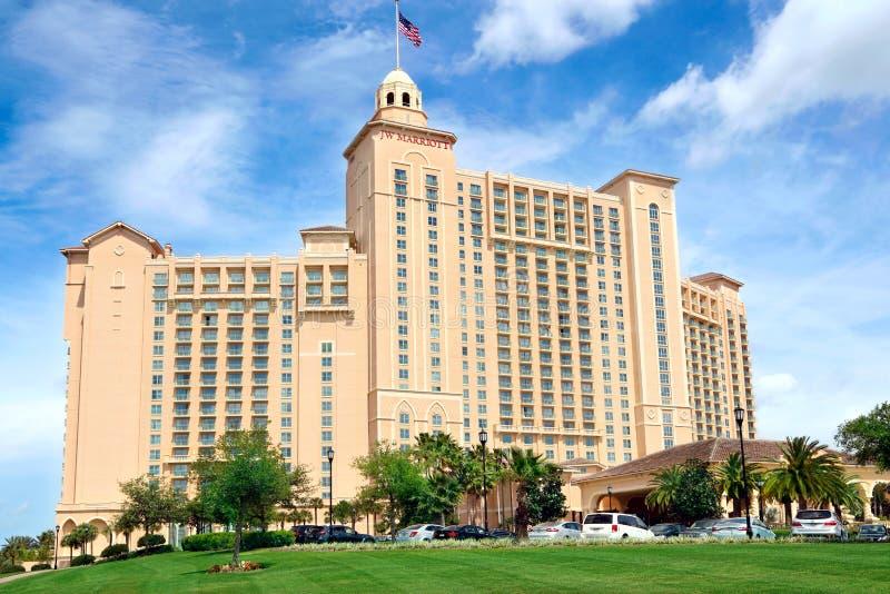 Jw Marriott Orlando Grande Lakes hotell i Orlando, Florida arkivbild