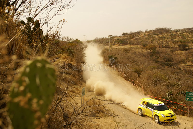 JWRC Corona Rally Mexico royalty free stock photos