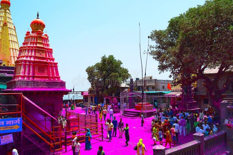 Jyotiba tempel, Wadi Ratnagiri, Kolhapur, Maharashtra arkivbild