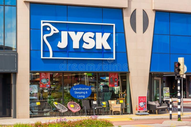 Jysk-Speicher in Alkmaar die Niederlande stockfotografie