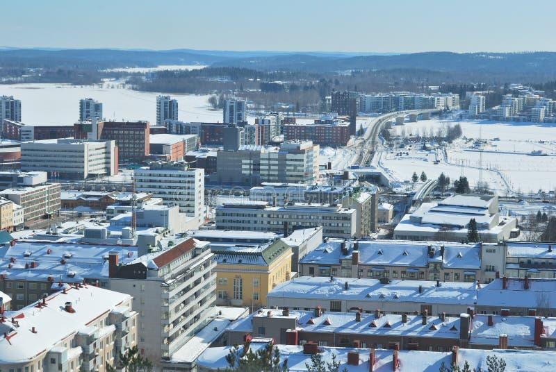 Parte-vista de Jyvaskyla, Finlandia foto de stock royalty free
