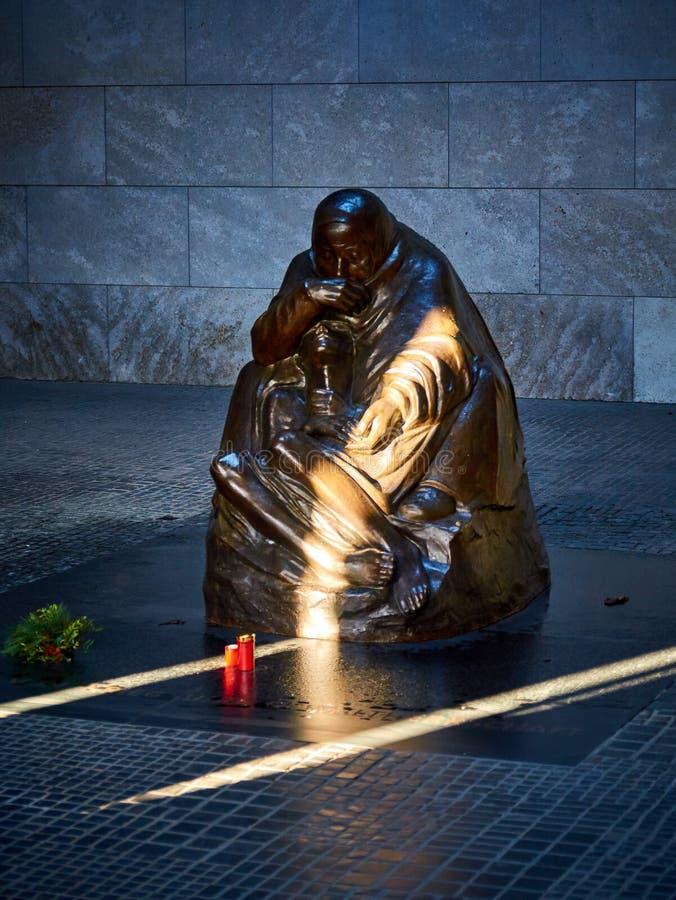 Käthe Kollwitz's sculpture 'Mother with her Dead Son', Neue Wache, Berlin, Germany stock photo