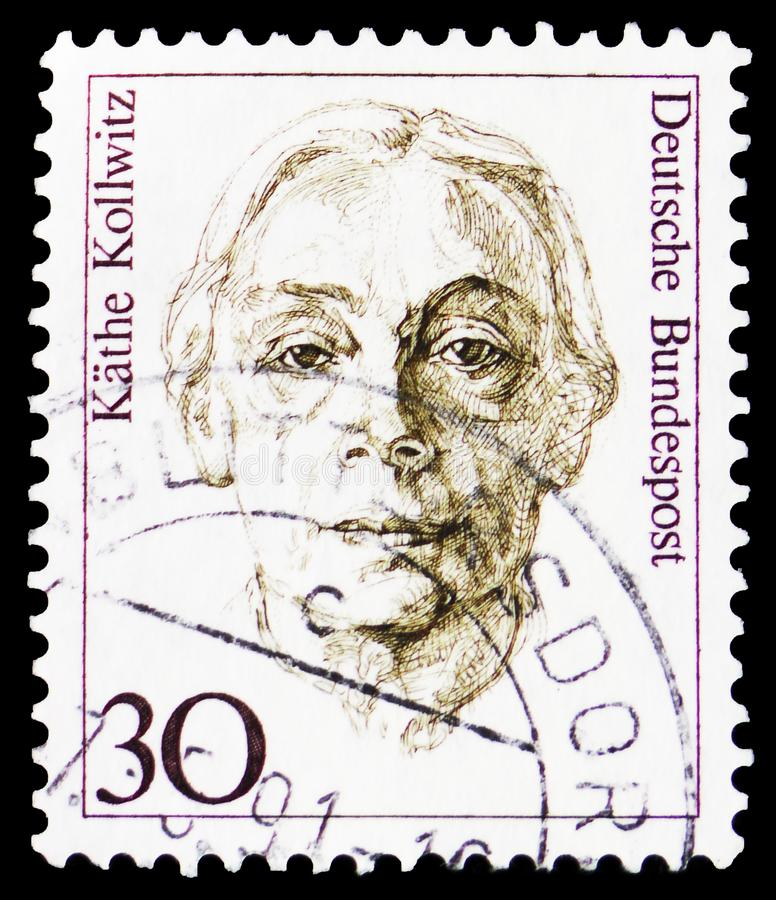 Käthe Kollwitz (1867-1945), målare, grafisk konstnär och skulptör, kvinnor i tysk historieserie, circa 1991 royaltyfri foto
