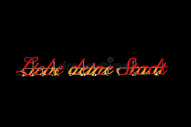 KÖLN, DEUTSCHLAND - 14. Februar 2019: Rotes Leuchtreklamesprechen stockfoto