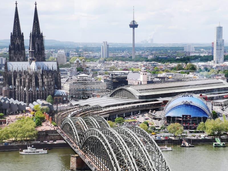 Köln Kolońska linia horyzontu Aussicht Triangel fotografia royalty free