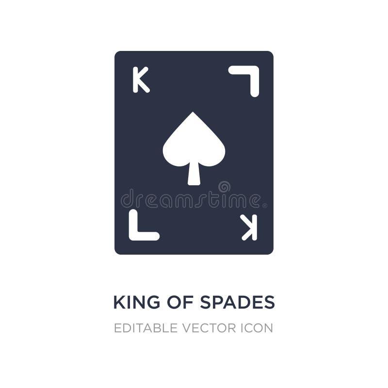 König der Spatenikone auf weißem Hintergrund Einfache Elementillustration vom Spielkonzept lizenzfreie abbildung