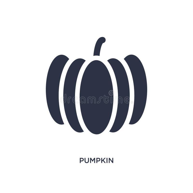 Kürbisikone auf weißem Hintergrund Einfache Elementillustration vom Fruchtkonzept lizenzfreie abbildung