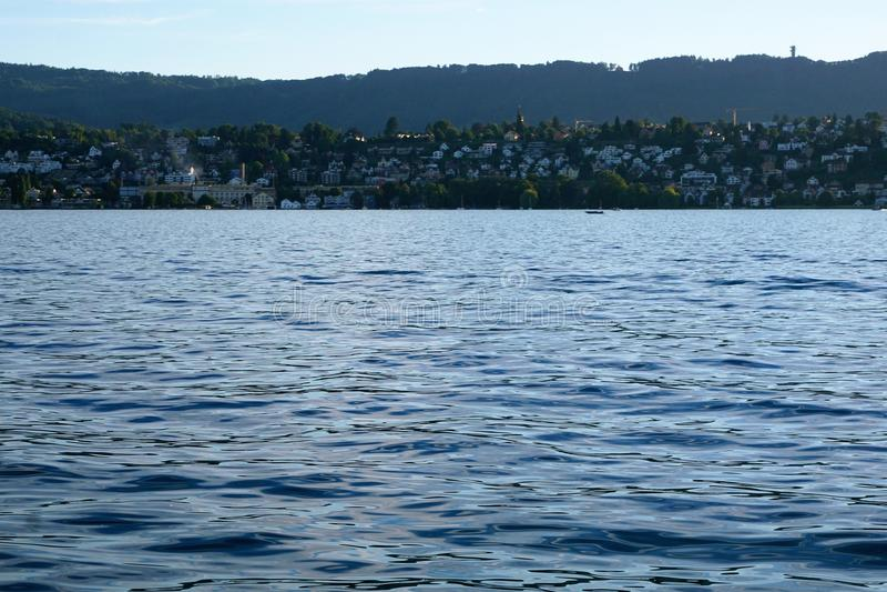 KÃ ¼ snacht in het Meer van Konstanz royalty-vrije stock fotografie