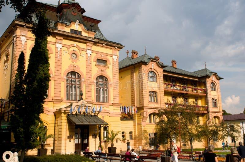 Kúpele de Bardejovské del balneario - recurra cerca de Bardejov, Eslovaquia fotografía de archivo