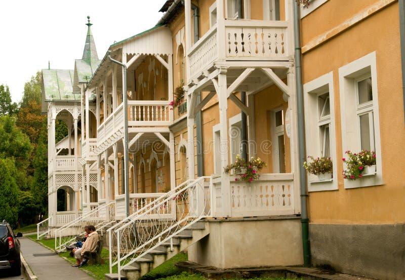 Kúpele de Bardejovské do spa resort - recorra perto de Bardejov, Eslováquia imagem de stock