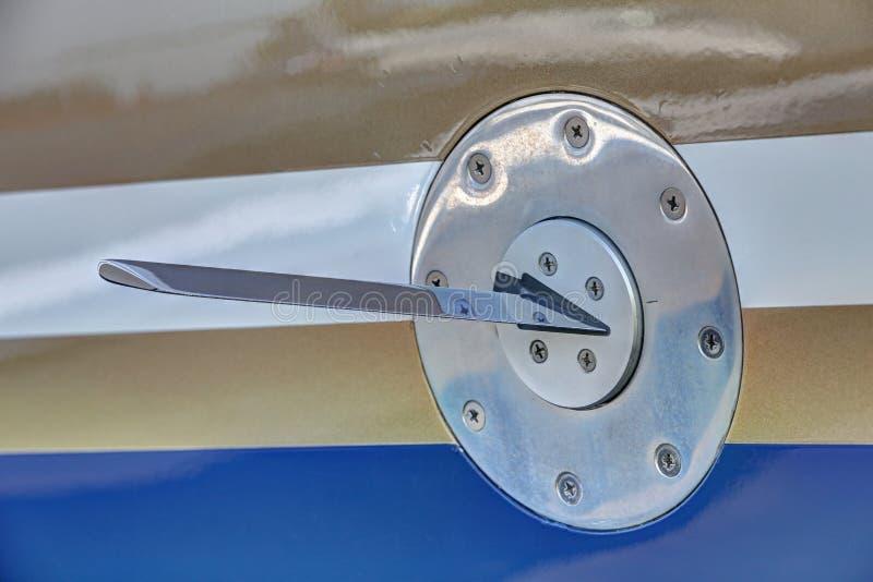 Kąt ataka metalu czujnik na stronie samolot obraz stock