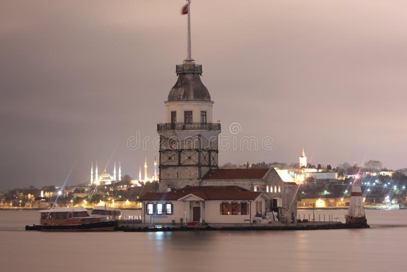 Kız Kulesi, jungfru- torn för ` s arkivfoton