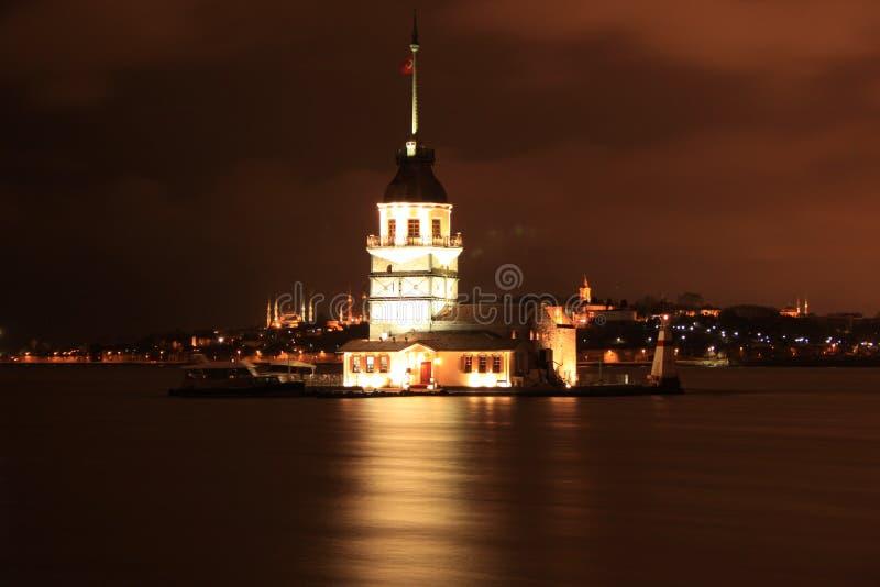 Kız Kulesi, jungfru- torn för ` s royaltyfri fotografi