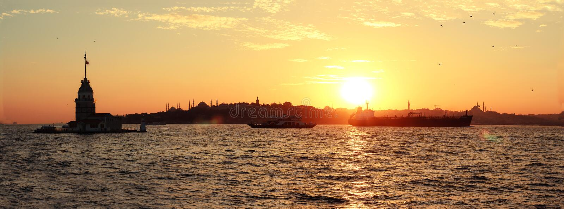 Kız kulesi-meisje ` s Toren İstanbul royalty-vrije stock fotografie
