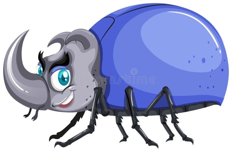 Käfer mit blauem Oberteil vektor abbildung