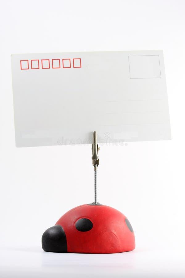 Käfer-Postkarte lizenzfreies stockbild