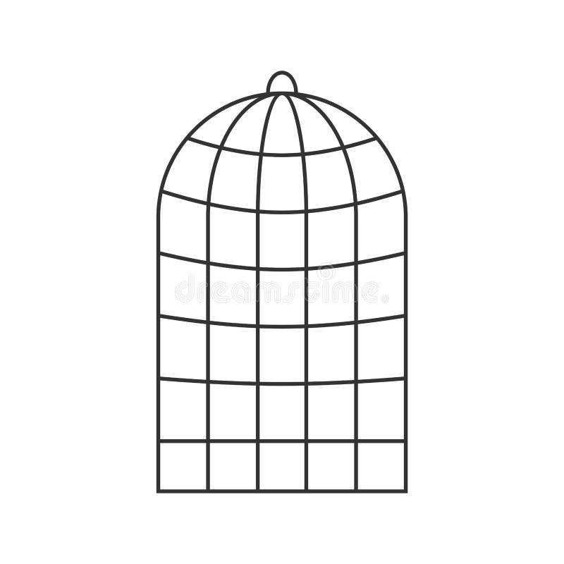 Käfig für die Vögel lokalisiert Falle für Papageien Auch im corel abgehobenen Betrag lizenzfreie abbildung