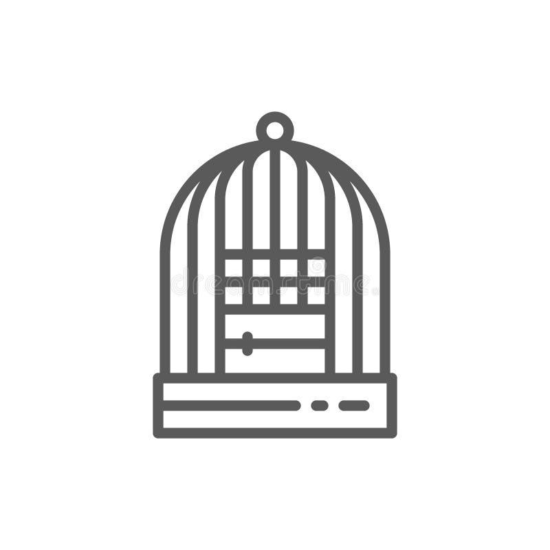 Käfig für Vögel zeichnen Ikone lizenzfreie abbildung