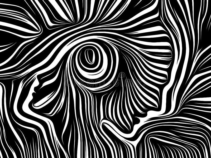 Källa av inre linjer vektor illustrationer