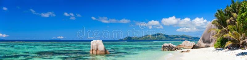 källa för strand D för anse argent fotografering för bildbyråer