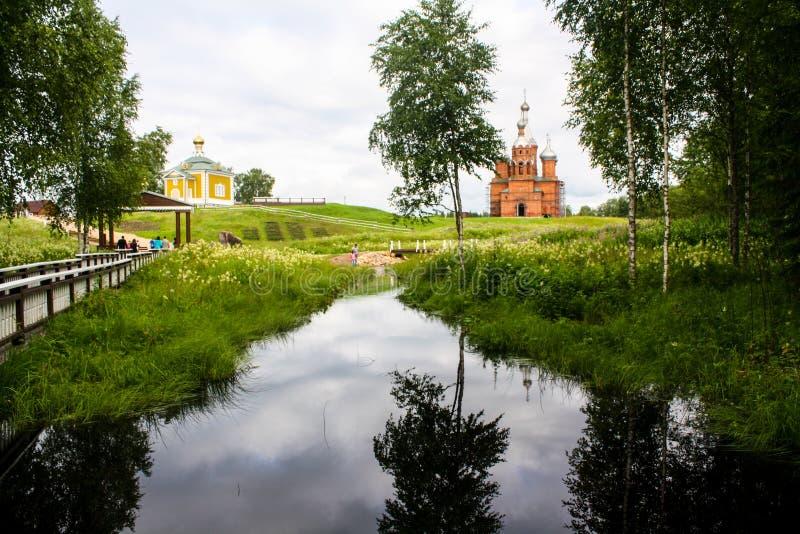 Källan av floden Volga royaltyfri fotografi