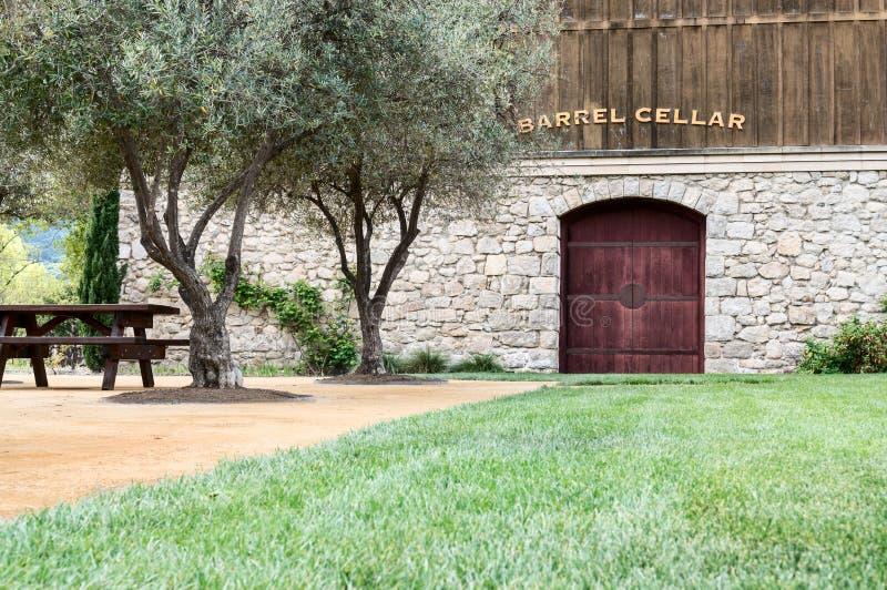 Källare för Winetrumma arkivbilder