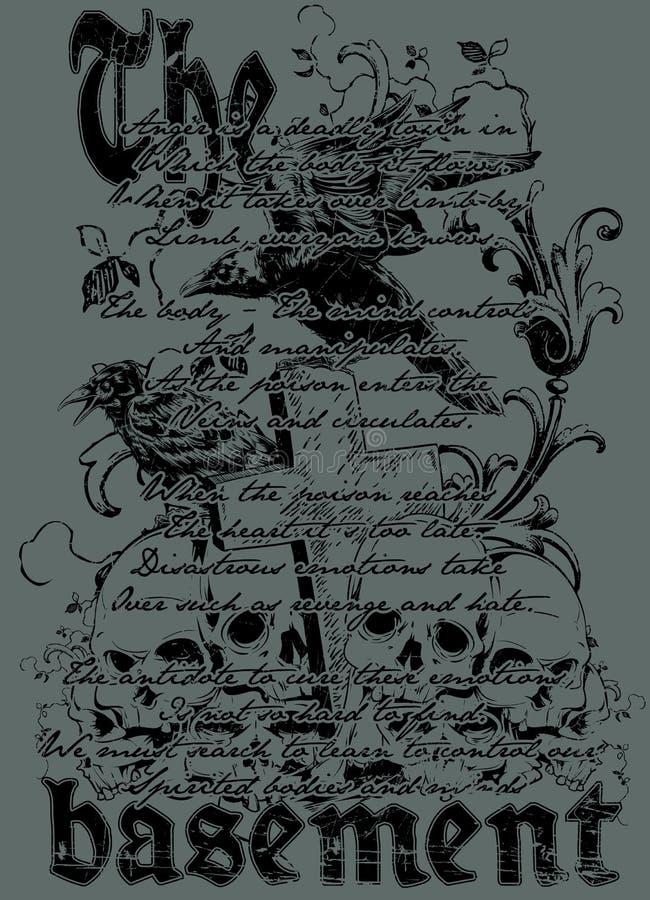Källaren stock illustrationer