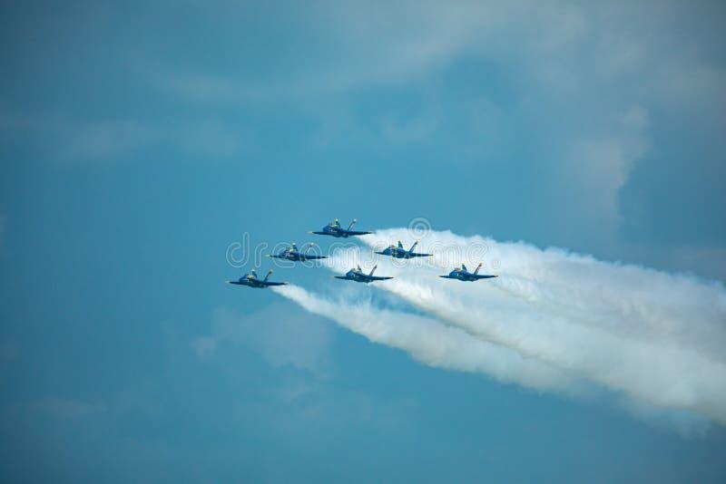 Kämpar för blåa änglar USA arkivfoton