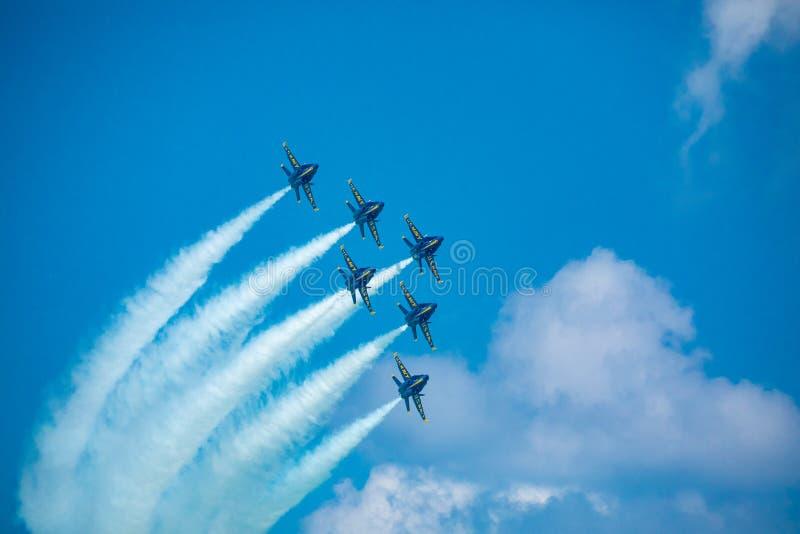 Kämpar för blåa änglar USA royaltyfria foton