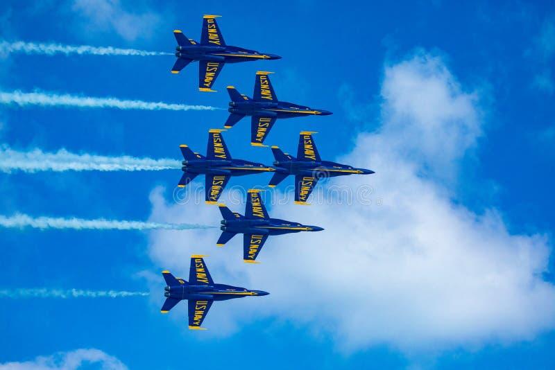 Kämpar för blåa änglar USA fotografering för bildbyråer