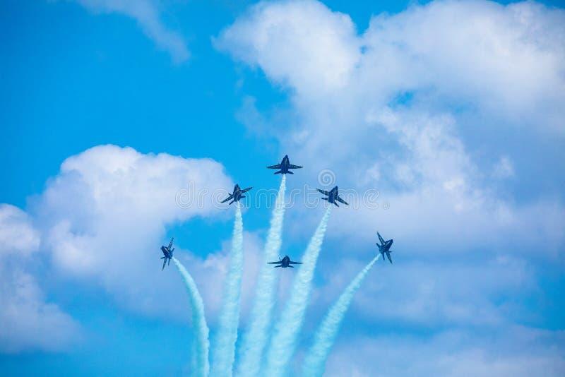Kämpar för blåa änglar USA royaltyfri foto