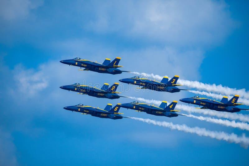 Kämpar för blåa änglar USA royaltyfri bild