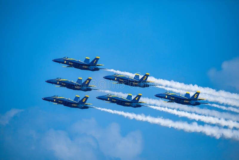 Kämpar för blåa änglar USA royaltyfri fotografi