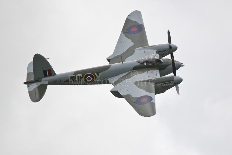 Kämpebombplan för mygga DH98 royaltyfria bilder