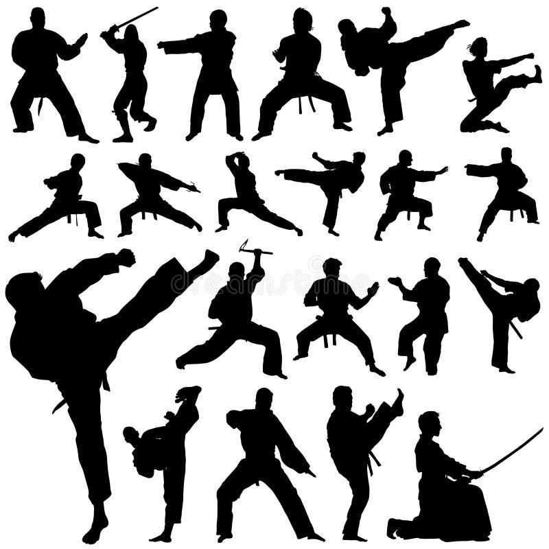 kämpevektor stock illustrationer