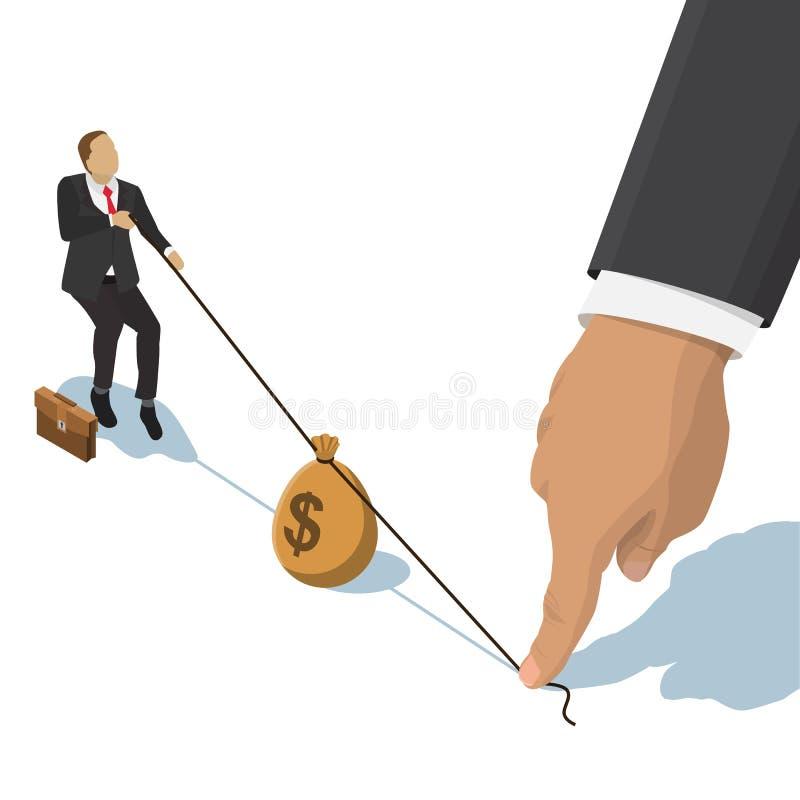 Kämpfen über Geld stock abbildung