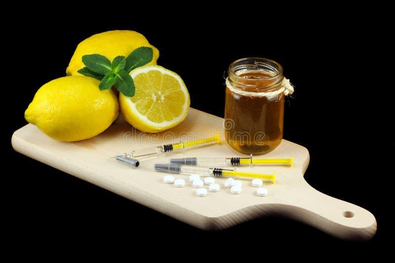 Kämpfen der Grippe stockfoto