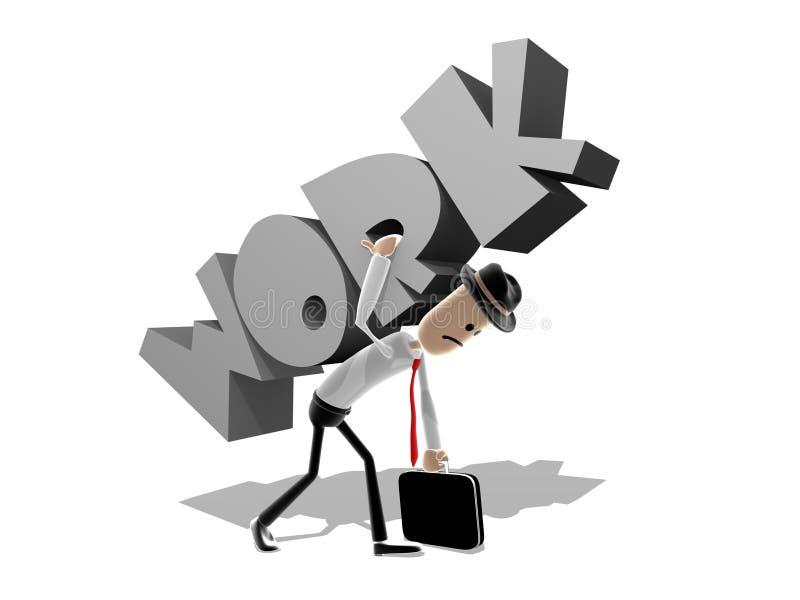 Kämpfen unter der Arbeitsbelastung lizenzfreie abbildung
