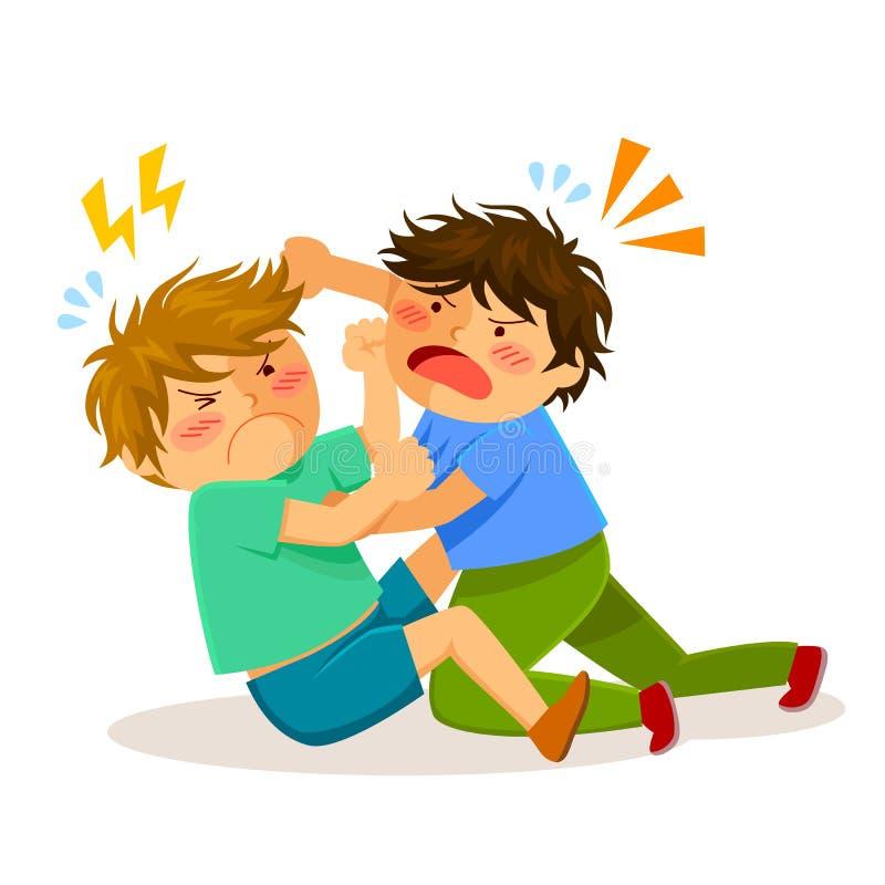 Kämpfende Jungen vektor abbildung