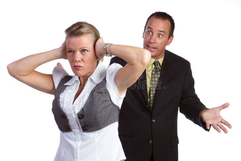 Kämpfende Paare stockbilder