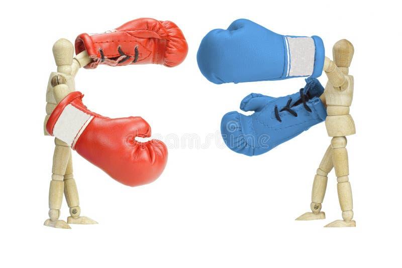 Kämpfende Politiker stockbild