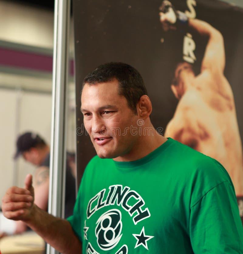 Kämpfer Dan-Henderson- Strikeforce MMA stockfotos