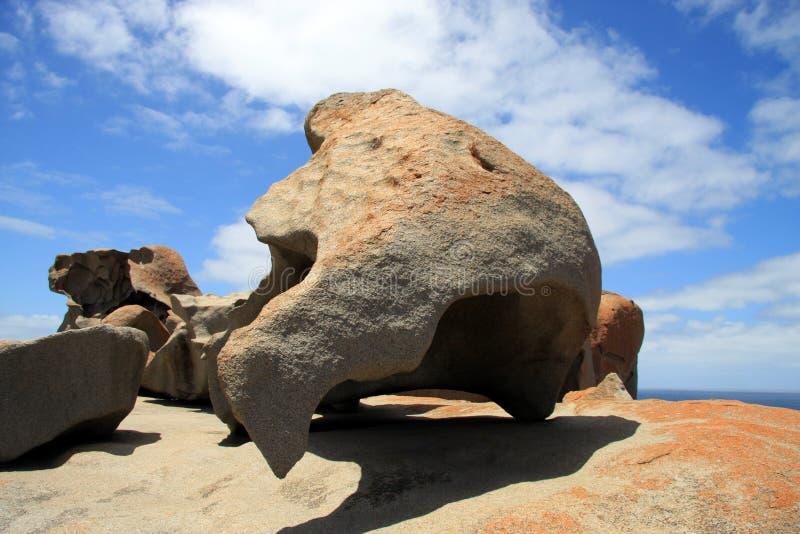 Känguruö, anmärkningsvärda Australien - vaggar arkivfoto
