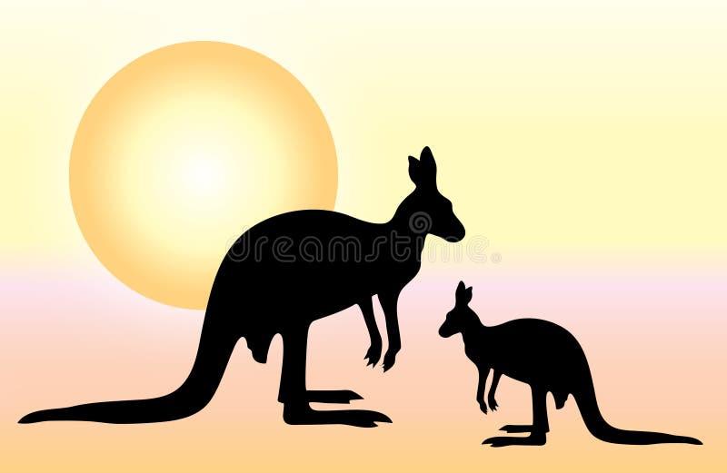 känguru vektor illustrationer
